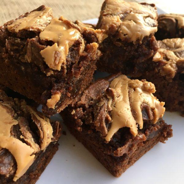 Brownies con mantequilla de maní